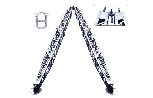 铝合金式锰钢人字抱杆